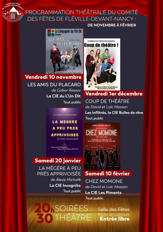 Affiche Théâtre Nov-Dec 2017