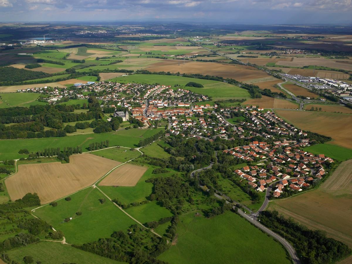 Vue aérienne de Fléville 3